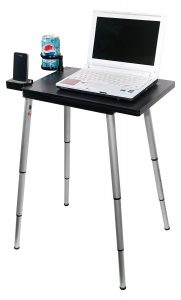 Black Portable Computer Stand