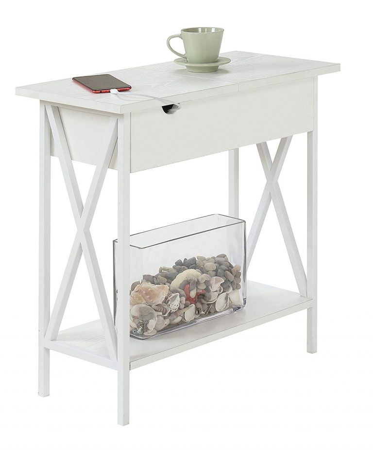 Flip Top Table White