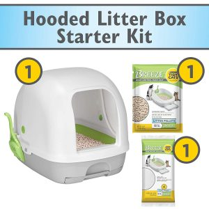 Breeze Hooded System Cat Litter Box