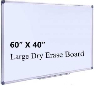 Dry Erase Board with Pen Tray